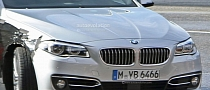 2014 BMW 5 Series LCI Caught Undisguised During Photo Shoot