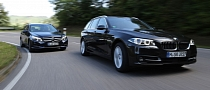 2014 BMW 518d Touring vs Mercedes-Benz E200 CDI T-Modell Comparison Test