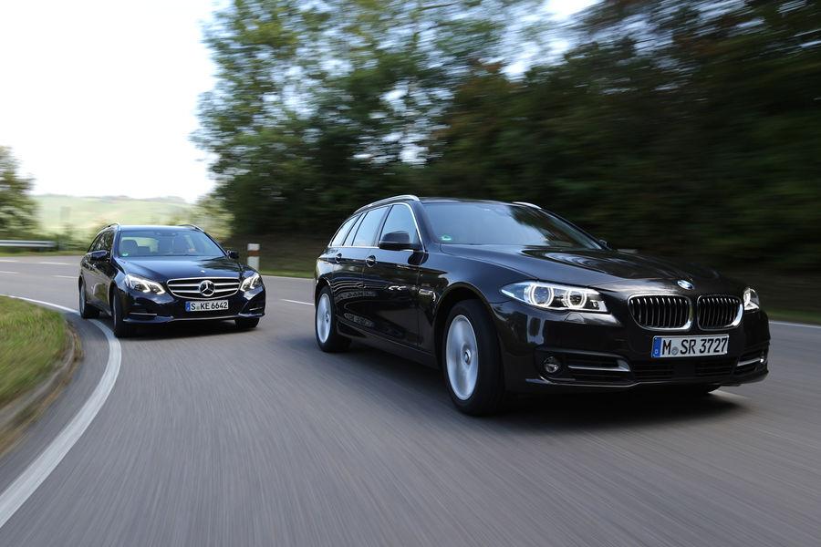 2014 BMW 518d Touring vs Mercedes-Benz E200 CDI T-Modell Comparison Test - autoevolution