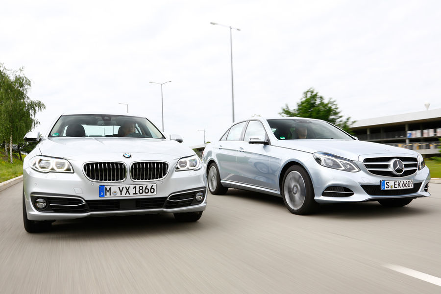 2014 bmw 530d vs mercedes benz e350 bluetec comparison for Bmw mercedes benz