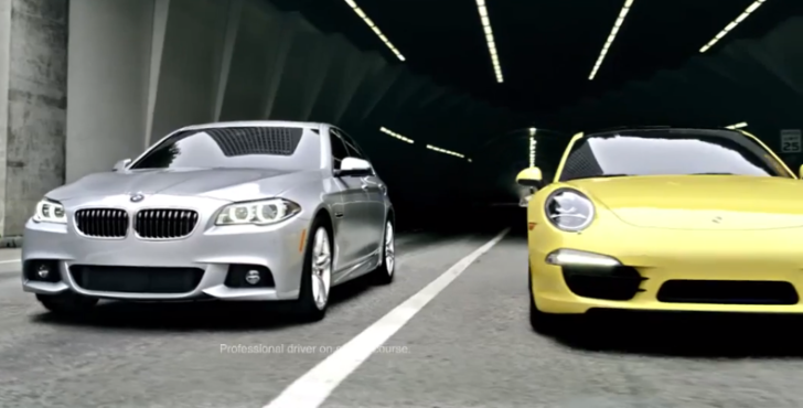 2014 BMW 535d Smokes a Porsche 911 Carrera in New Commercial [Video]