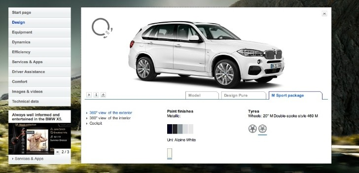 2014 BMW F15 X5 Configurator Launched, Still No Pricing
