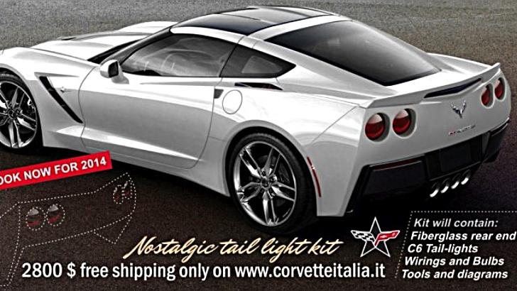 2014 chevrolet corvette c7 stingray gets aftermarket c6 rear end C2 Corvette Tail Light Wiring Diagram