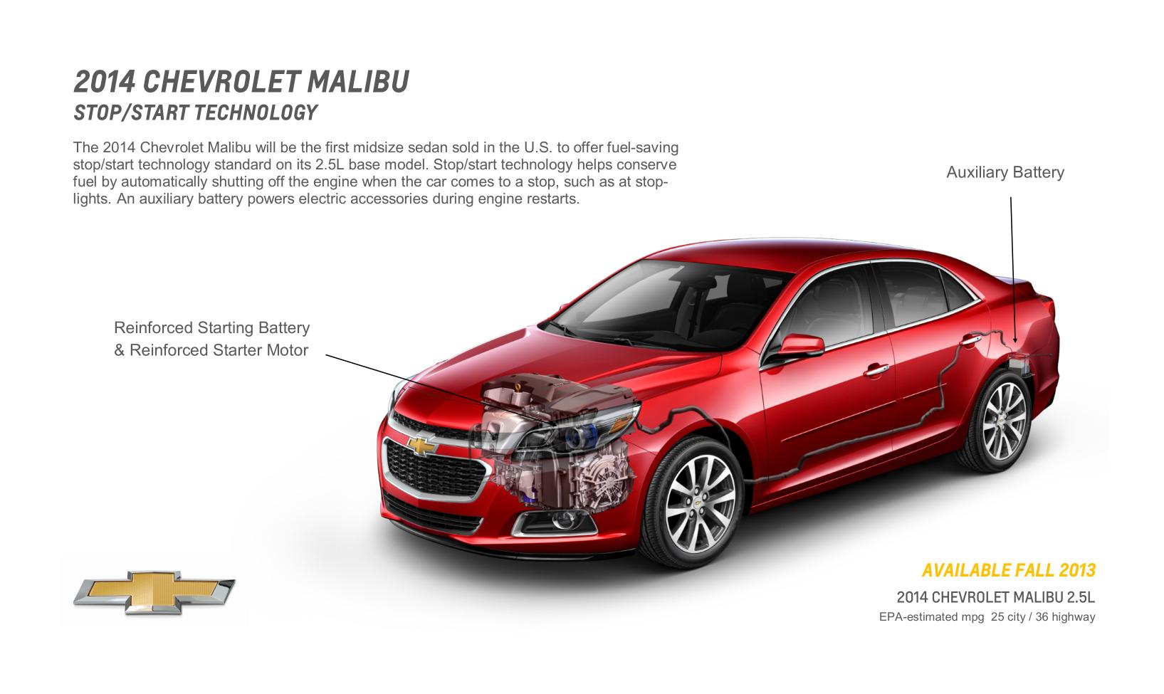 2014 Chevy Malibu With Stop/Start Gets 14% Better City ...