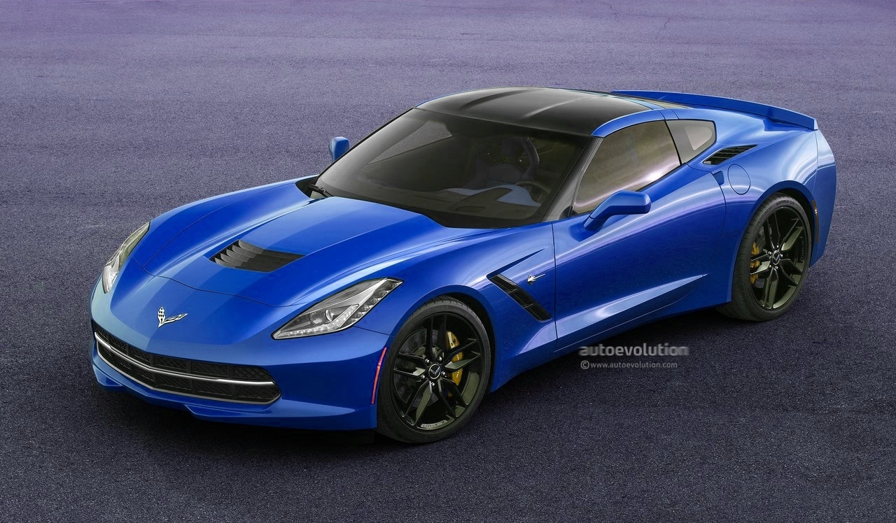2014 corvette c7 stingray looks great in blue autoevolution. Black Bedroom Furniture Sets. Home Design Ideas