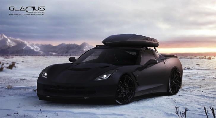Matte Black 2014 Corvette Stingray with Roof Box: Jon Olsson?