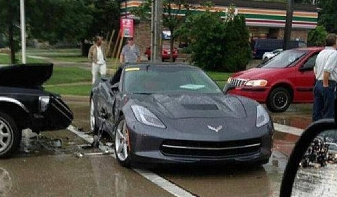 2014 Corvette Stingray Crashed While Testing in Michigan