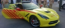 2014 Corvette Stingray Fires Up Dubai Fire Brigade