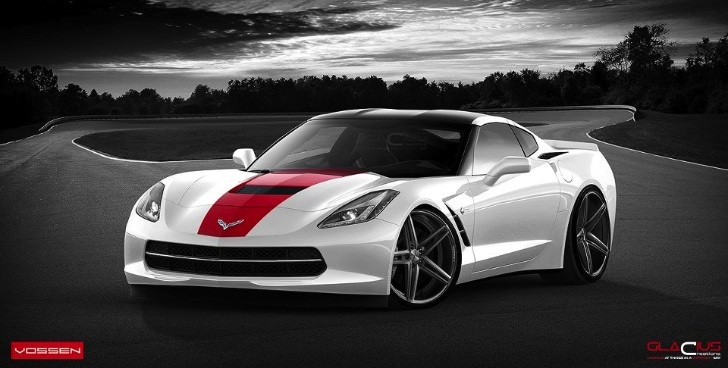 2014 Corvette Stingray on Vossen Wheels (Rendering)