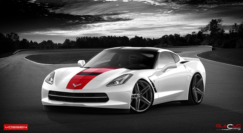 2014 corvette stingray on vossen wheels rendering autoevolution. Cars Review. Best American Auto & Cars Review