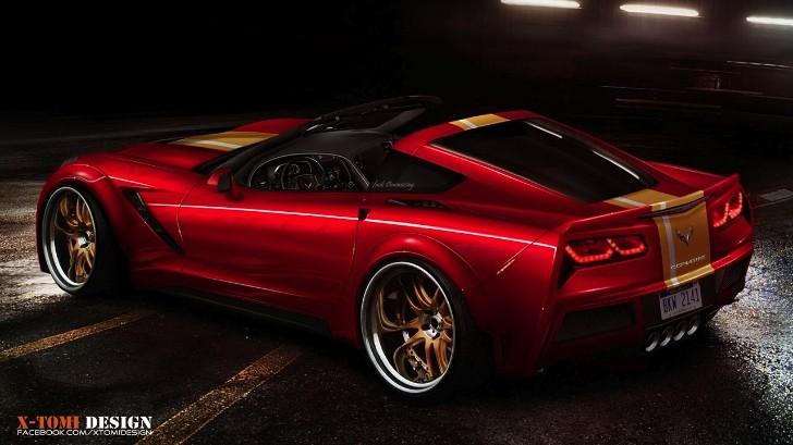 2014 Corvette Stingray Rendered as Targa