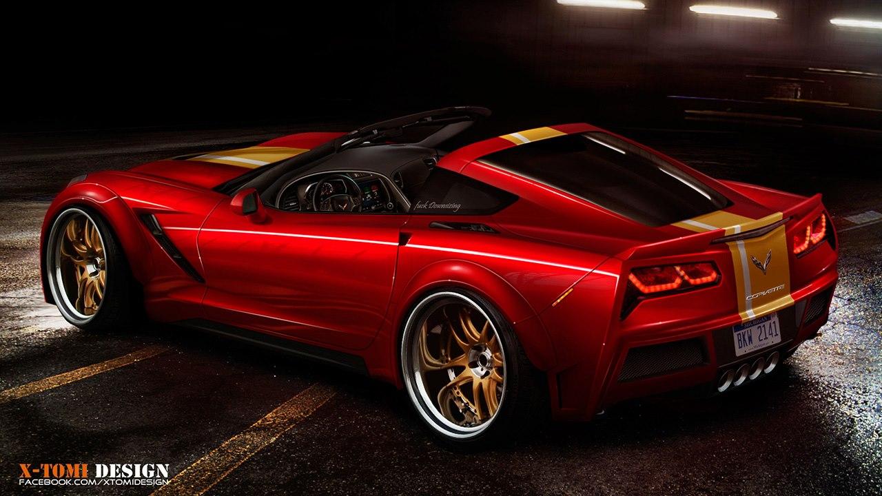 2014 corvette stingray rendered as targa autoevolution. Black Bedroom Furniture Sets. Home Design Ideas