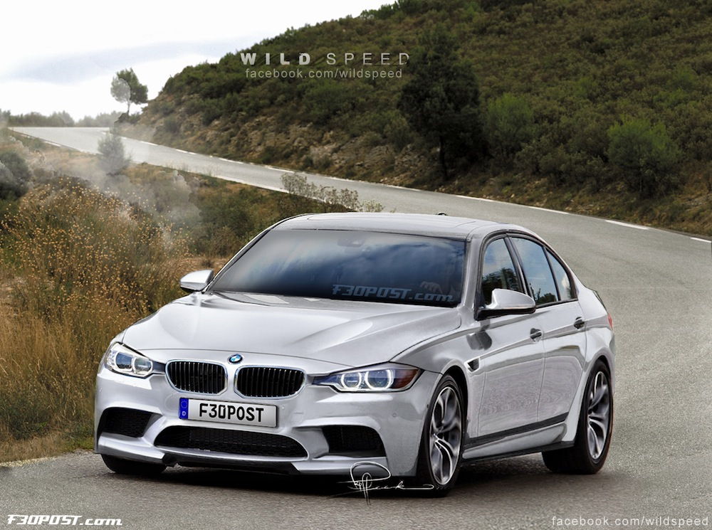 2014 f80 bmw m3 renderings released autoevolution. Black Bedroom Furniture Sets. Home Design Ideas