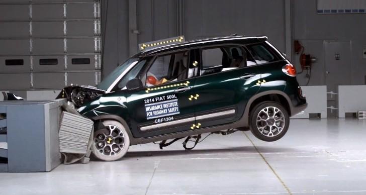 2014 fiat 500l iihs crash test top safety pick video. Black Bedroom Furniture Sets. Home Design Ideas
