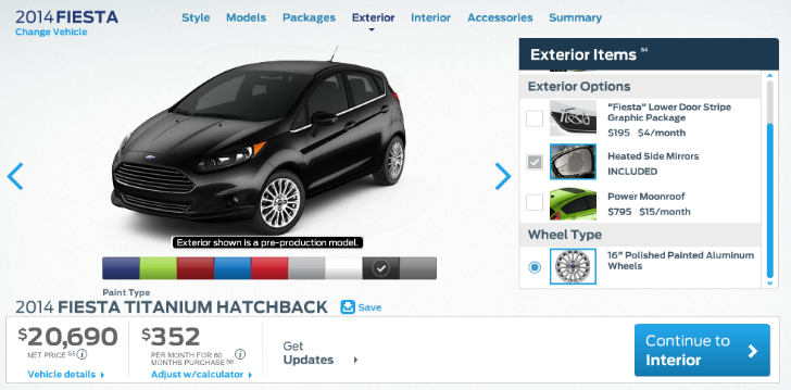 2014 Ford Fiesta Available in Spring from $14,000