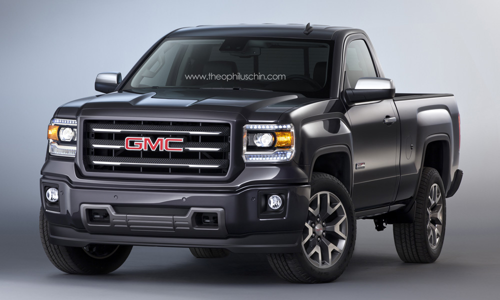 2014 gmc sierra regular cab rendering autoevolution. Black Bedroom Furniture Sets. Home Design Ideas