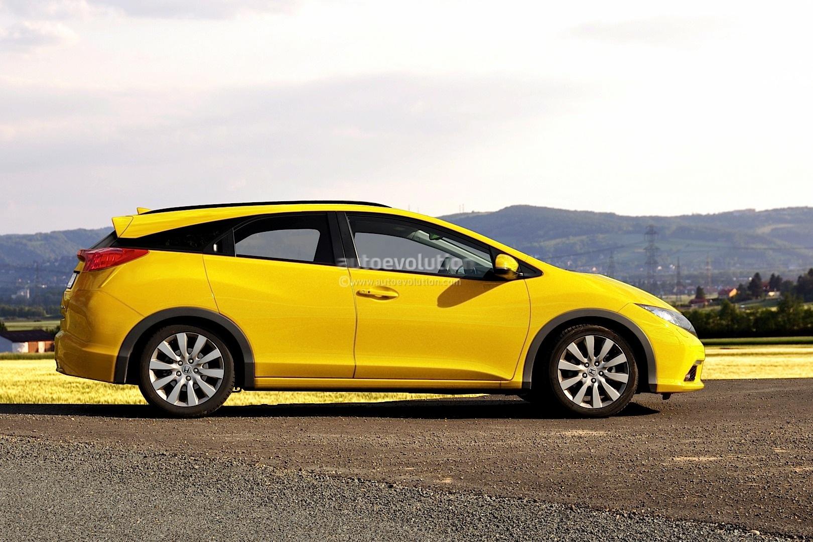 2014 Honda Civic Estate / Wagon Rendering - autoevolution