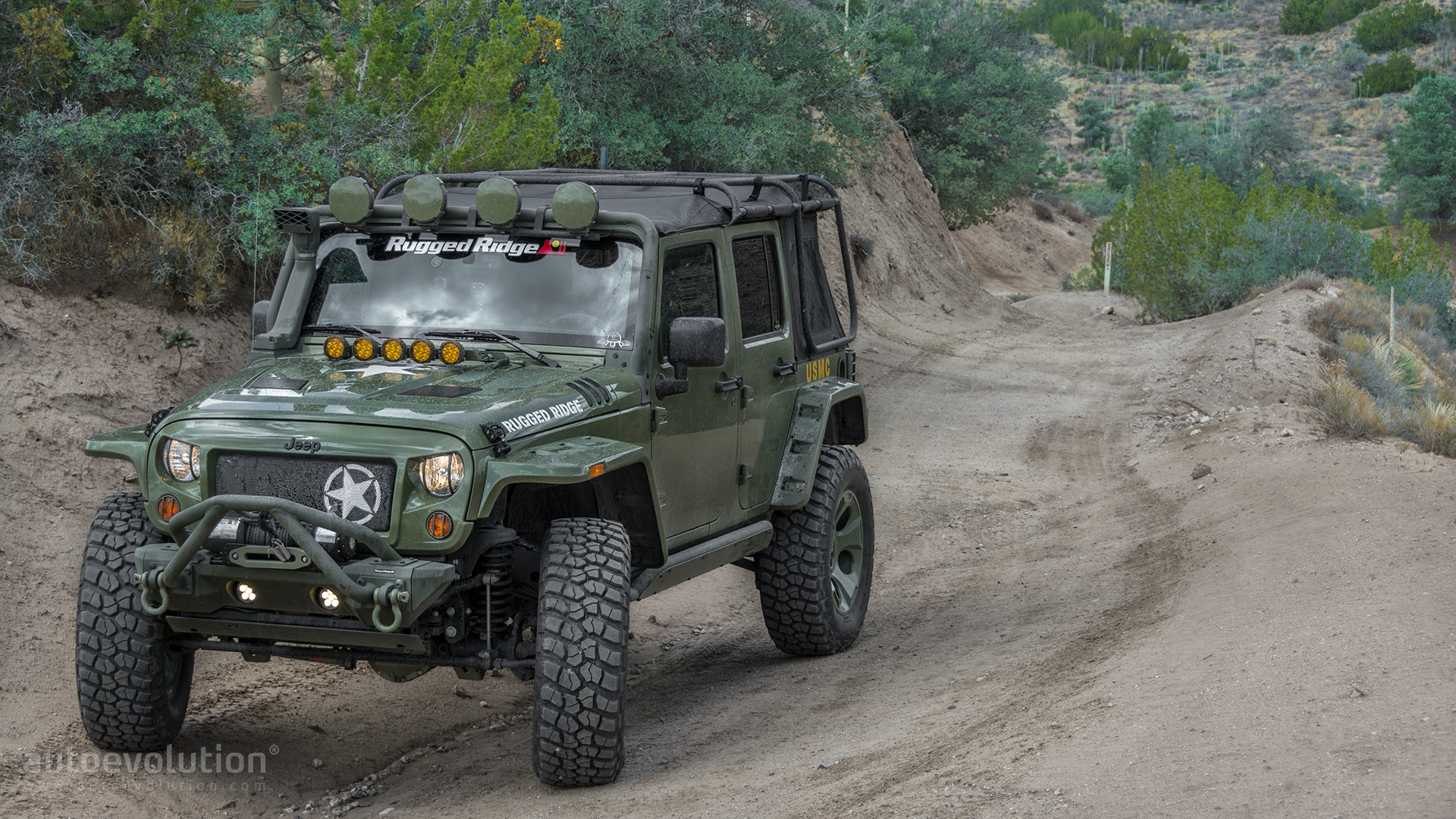 2014 Jeep Wrangler Rubicon By Rugged Ridge Wallpapers Straight Off
