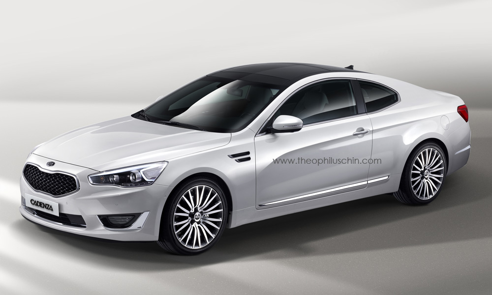 2014 kia cadenza coupe rendering autoevolution. Black Bedroom Furniture Sets. Home Design Ideas