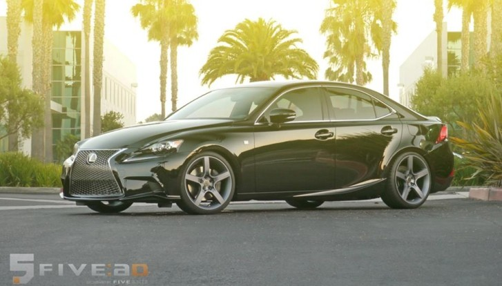 2014 Lexus IS 350 F Sport Looks Nice on FIVEAD Rims