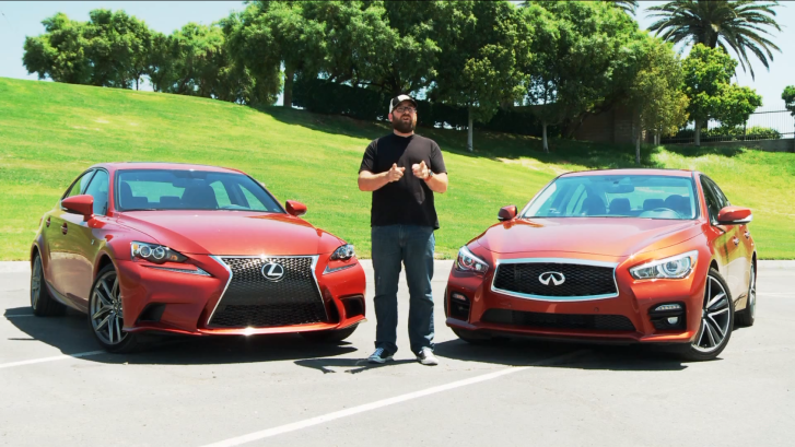 2014 Lexus IS 350 F Sport Clutches Victory Against 2014 Infiniti Q50S [Video]