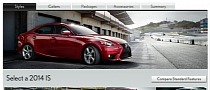 2014 Lexus IS Configurator Goes Online