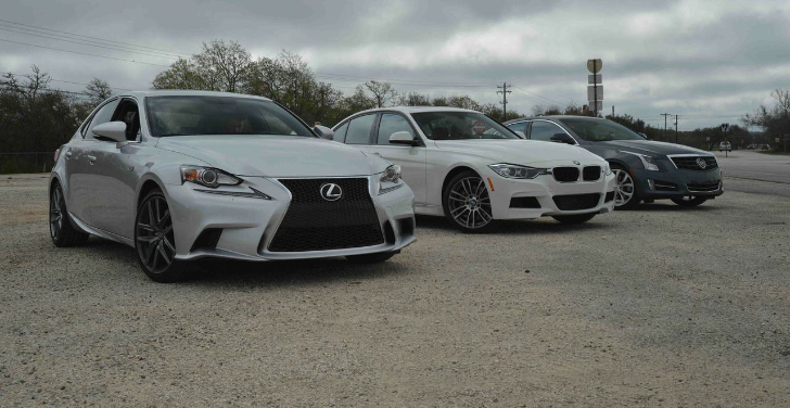 2014 Lexus IS350 vs BMW 335i vs Cadillac ATS 3.6 Comparison