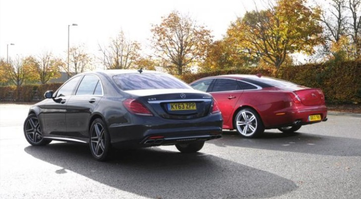 2014 mercedes benz s 63 amg vs 2014 jaguar xjr autoevolution