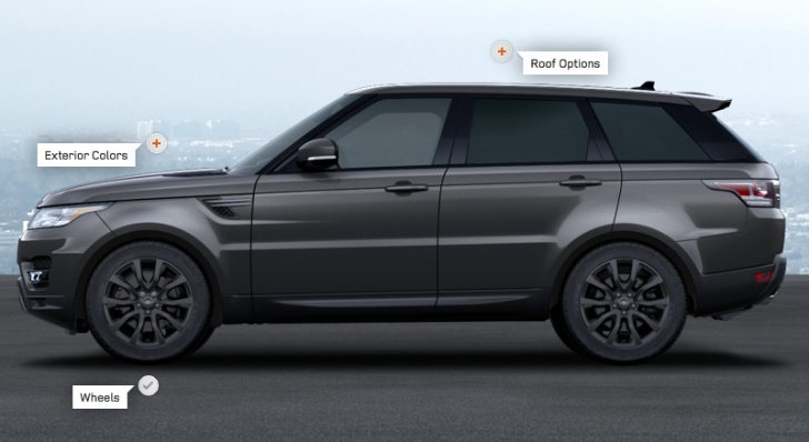 2014 range rover sport online configurator launched. Black Bedroom Furniture Sets. Home Design Ideas