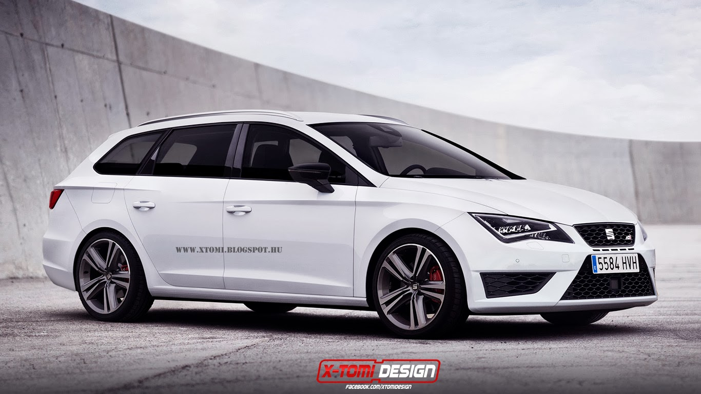 2014 seat leon st cupra rendered as debut looms autoevolution. Black Bedroom Furniture Sets. Home Design Ideas