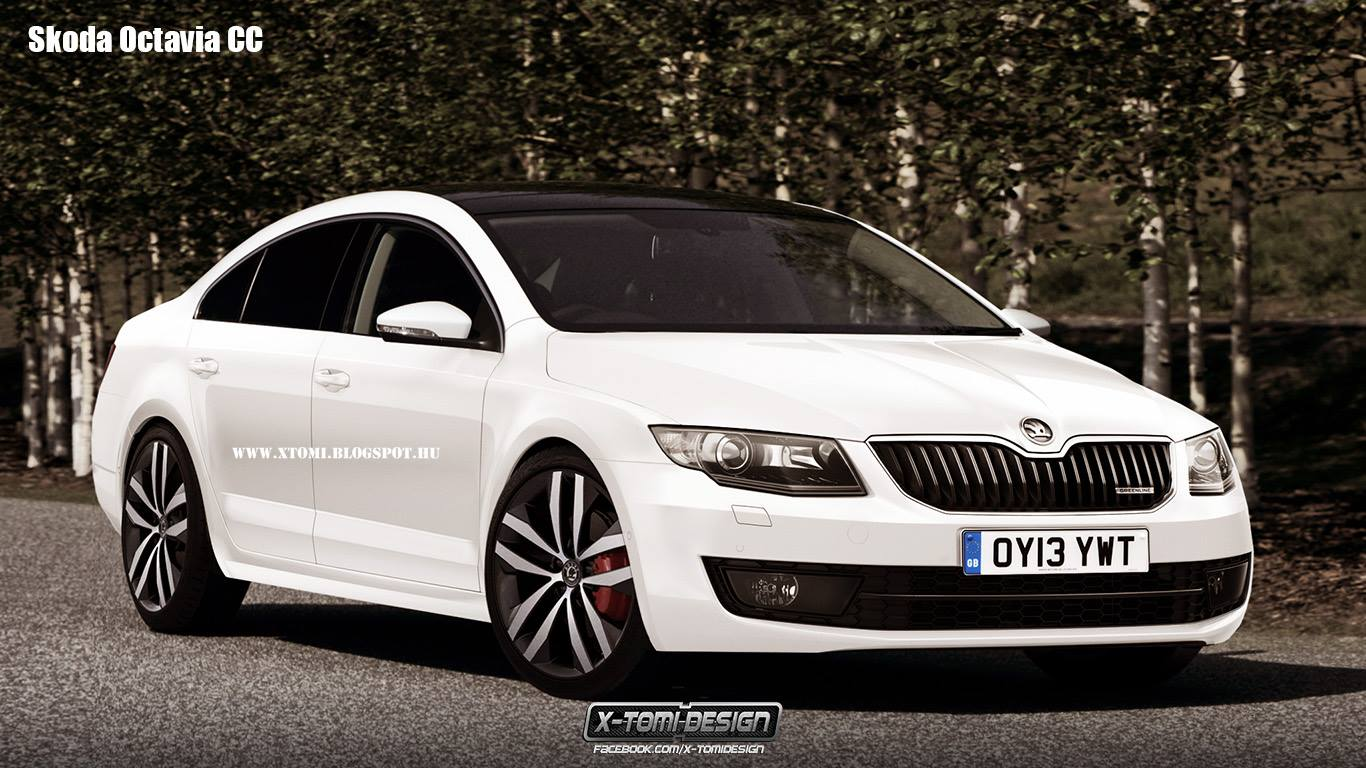 2014 skoda octavia four door coupe rendered autoevolution. Black Bedroom Furniture Sets. Home Design Ideas