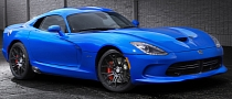 "2014 SRT Viper Gains ""Competition Blue"" Exterior Color"
