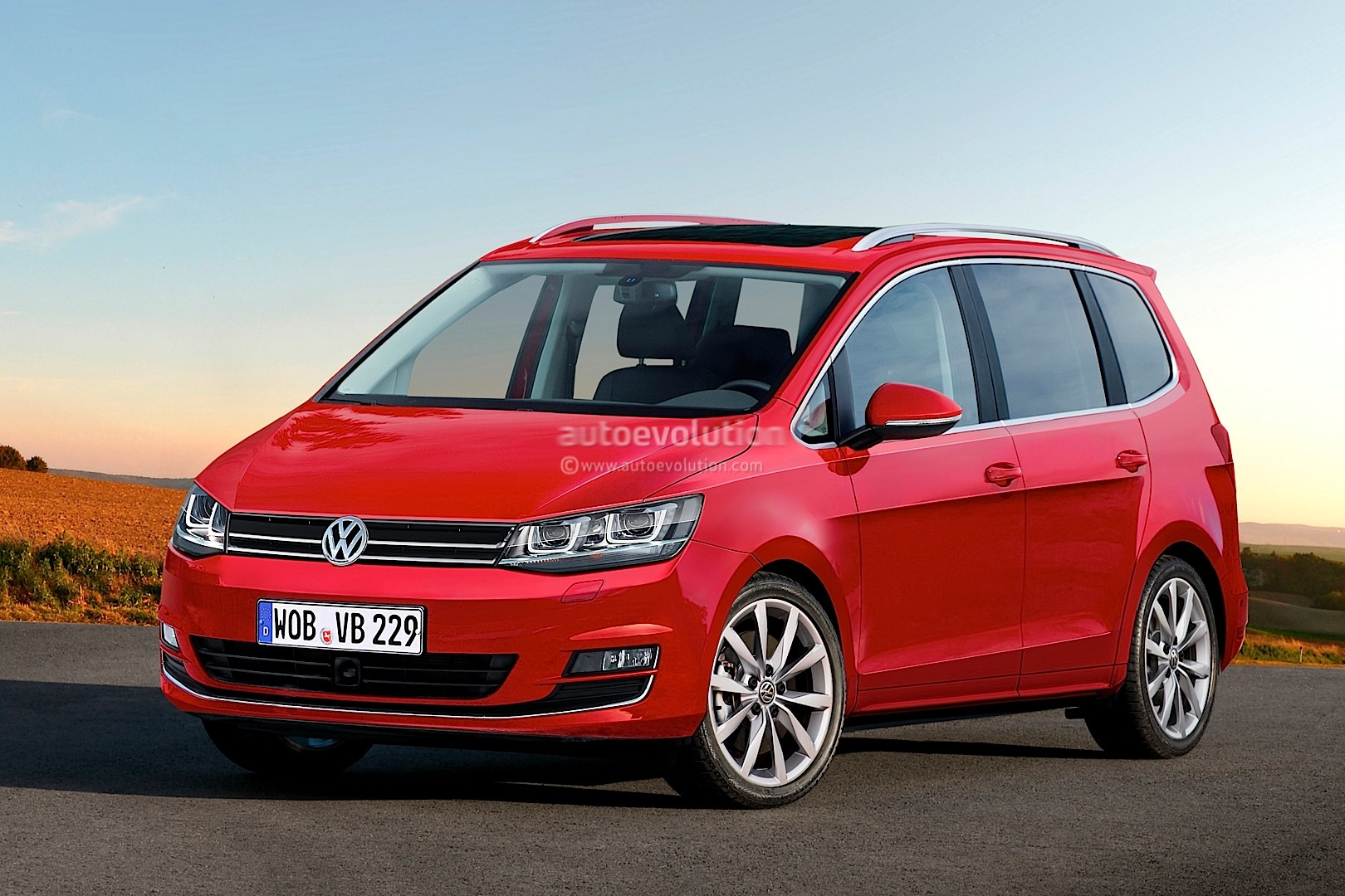 2014 volkswagen touran rendered looks ready for production autoevolution. Black Bedroom Furniture Sets. Home Design Ideas
