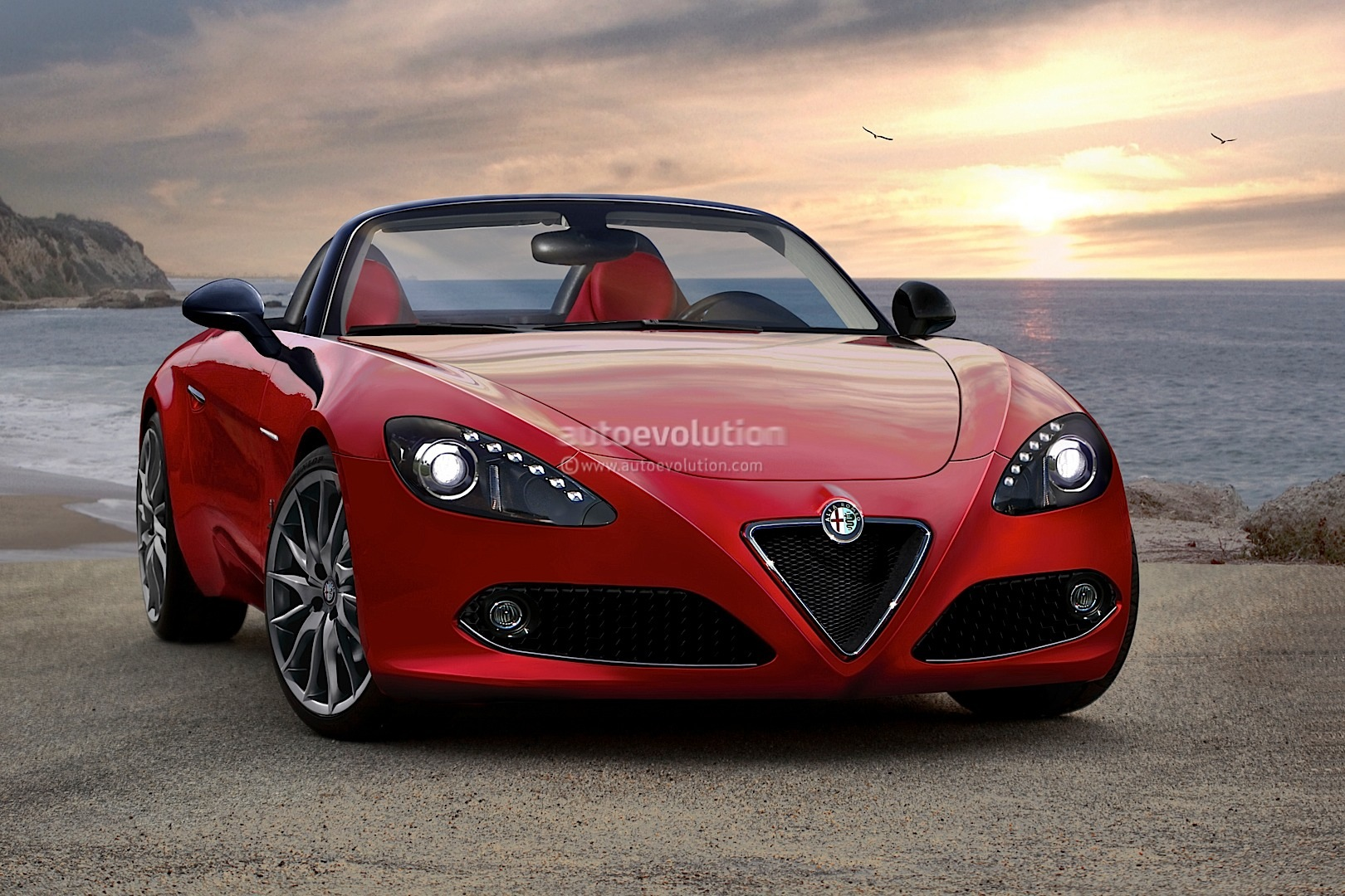 2015 alfa romeo spider rendered autoevolution. Black Bedroom Furniture Sets. Home Design Ideas
