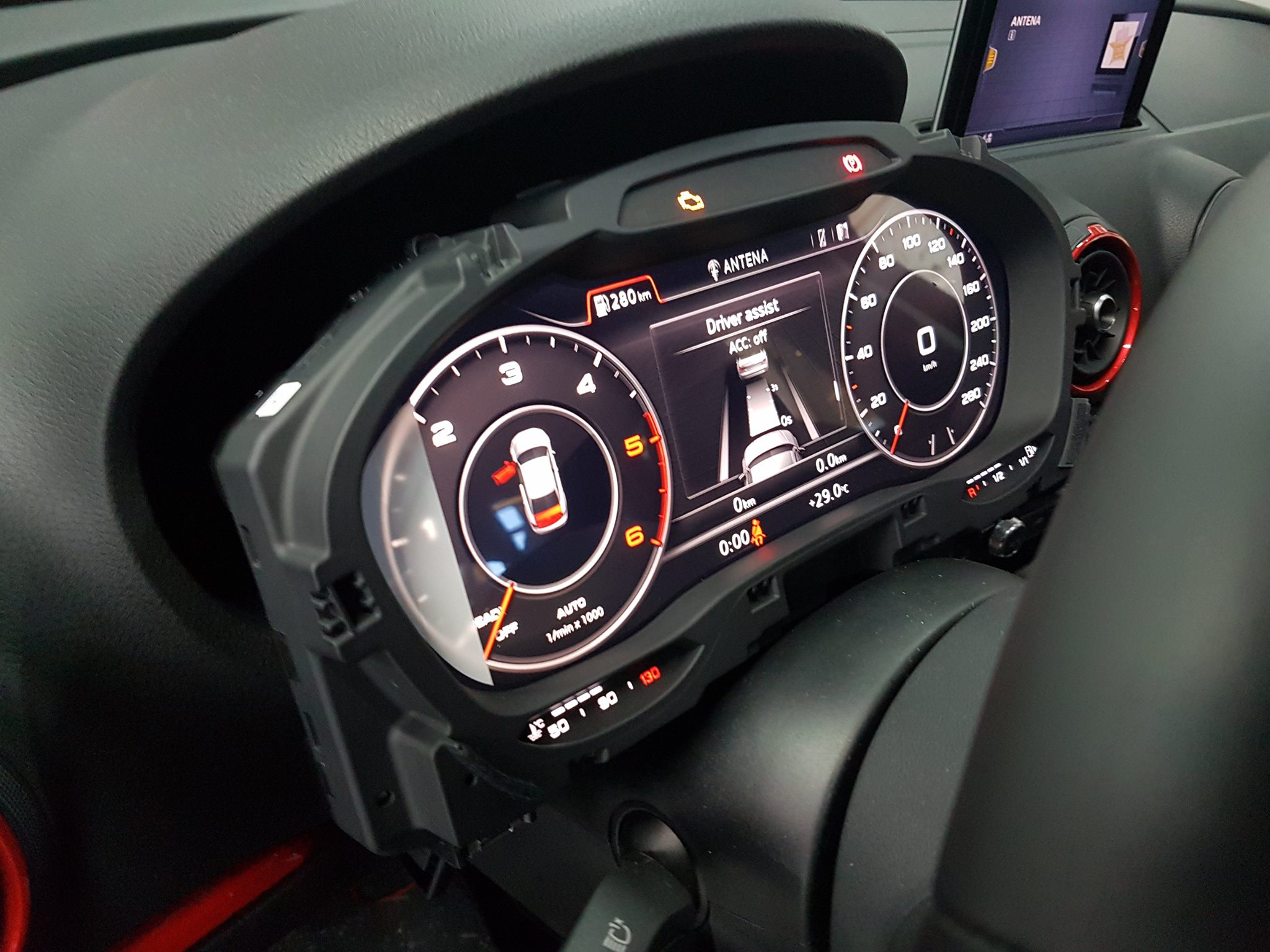 2015 audi a3 retrofitted with virtual cockpit other facelift features autoevolution. Black Bedroom Furniture Sets. Home Design Ideas
