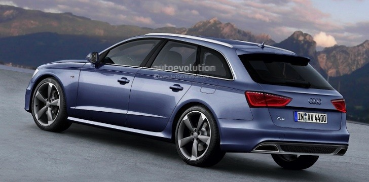 2015 audi a4 avant b9 rendering autoevolution. Black Bedroom Furniture Sets. Home Design Ideas