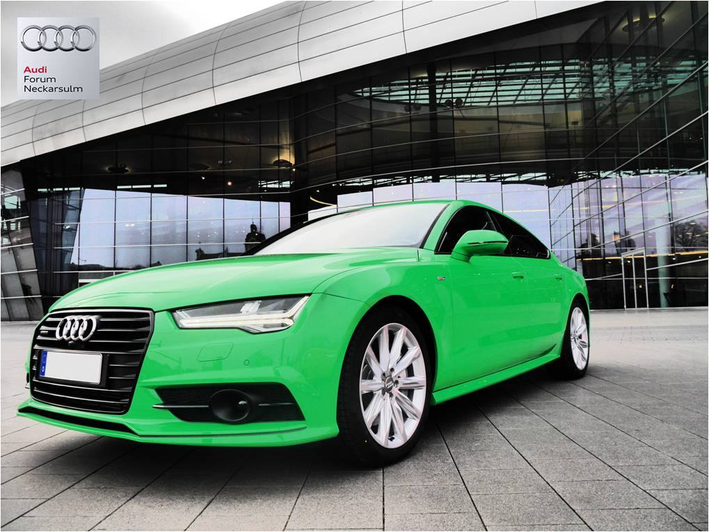 2015 audi a7 facelift in gt3 rs green the german hulk autoevolution. Black Bedroom Furniture Sets. Home Design Ideas