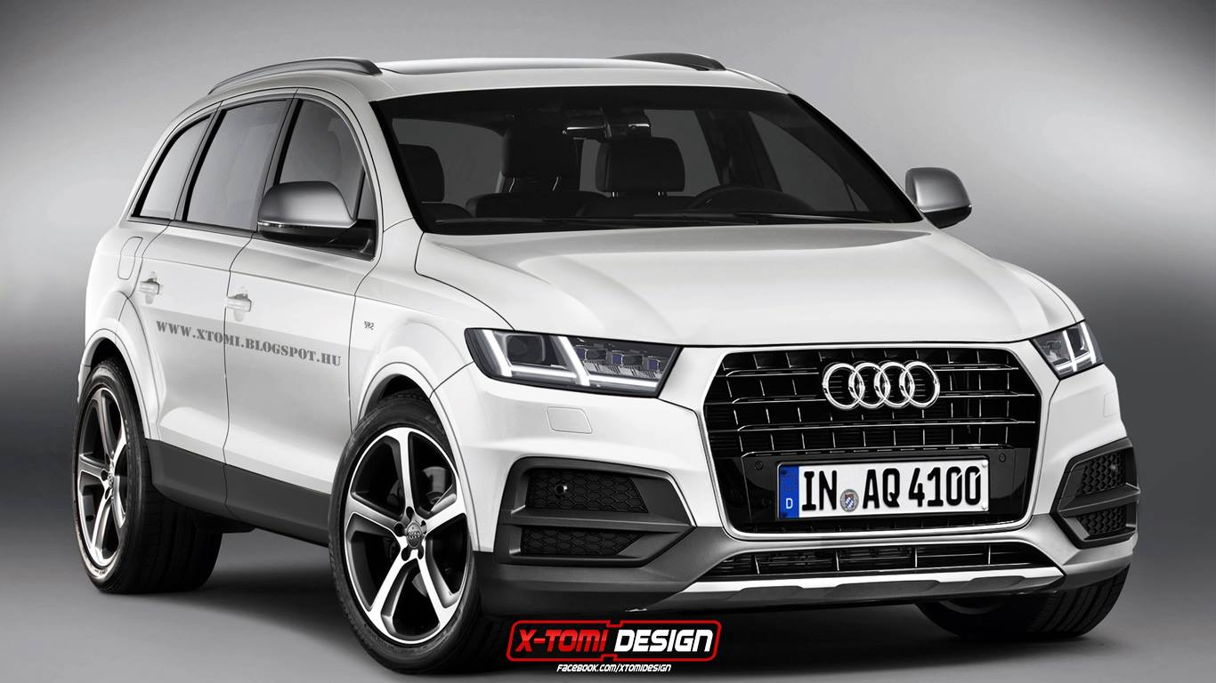 2015 audi q7 photoshoped into existence shows next chapter of audi design autoevolution. Black Bedroom Furniture Sets. Home Design Ideas