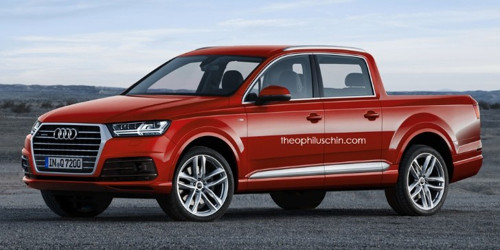 2015 audi q7 pickup truck rendered aluminum giant autoevolution. Black Bedroom Furniture Sets. Home Design Ideas