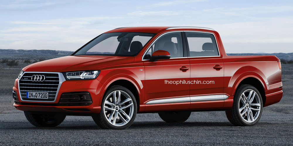 2015 audi q7 pickup truck rendered aluminum giant. Black Bedroom Furniture Sets. Home Design Ideas