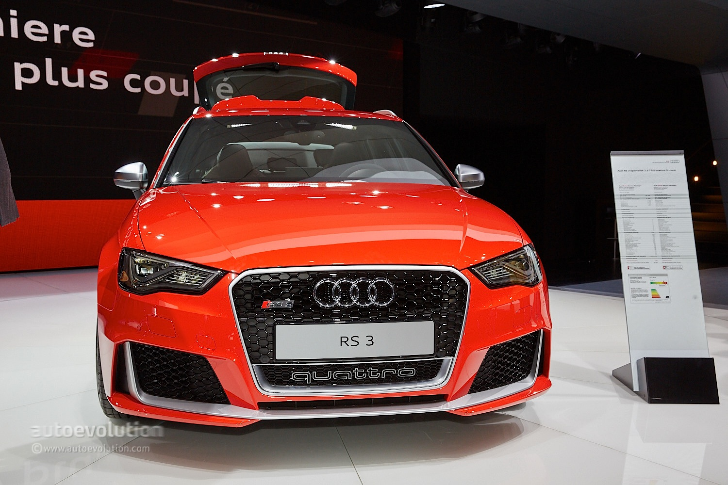 2015 audi rs3 is the most awesome quattro hot hatch ever autoevolution. Black Bedroom Furniture Sets. Home Design Ideas