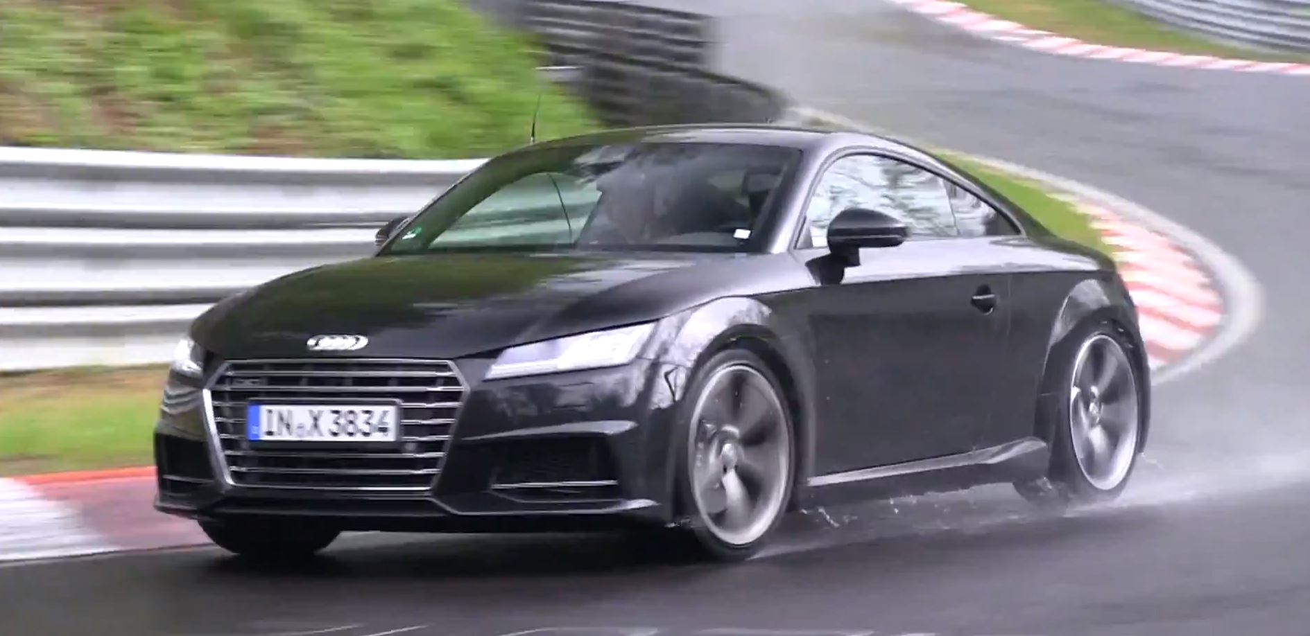 2015 audi tts coupe spied testing on extremely wet. Black Bedroom Furniture Sets. Home Design Ideas