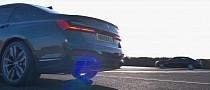 2015 BMW 760Li vs. 2020 BMW M760Li Drag Race Has Russian Mob Vibes