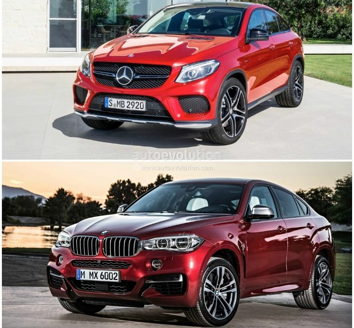 2015 bmw x6 vs mercedes benz gle coupe the battle of the for Bmw and mercedes benz