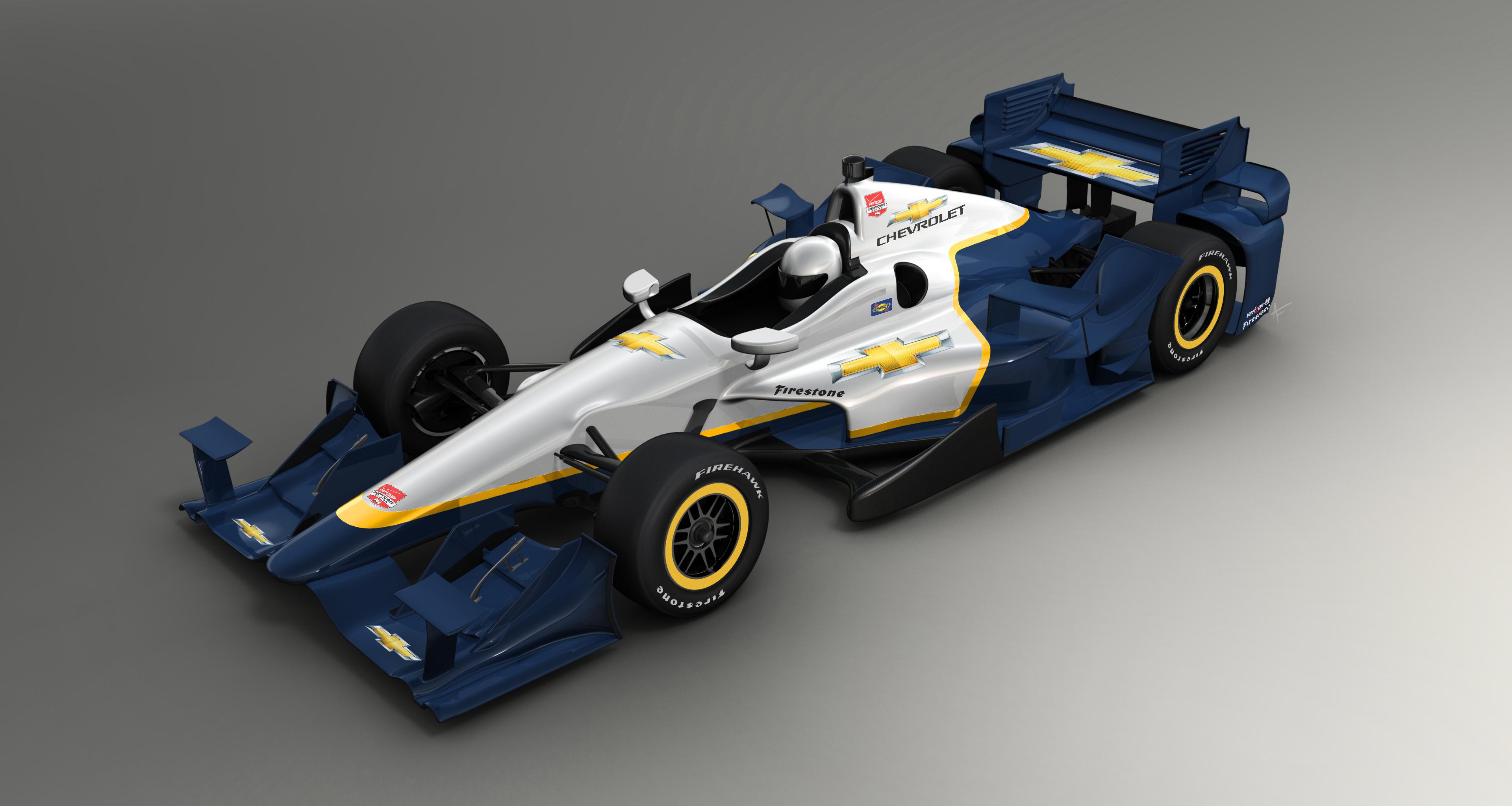 2015 Chevrolet Indycar Is A Balanced Aero Mix Between Drag