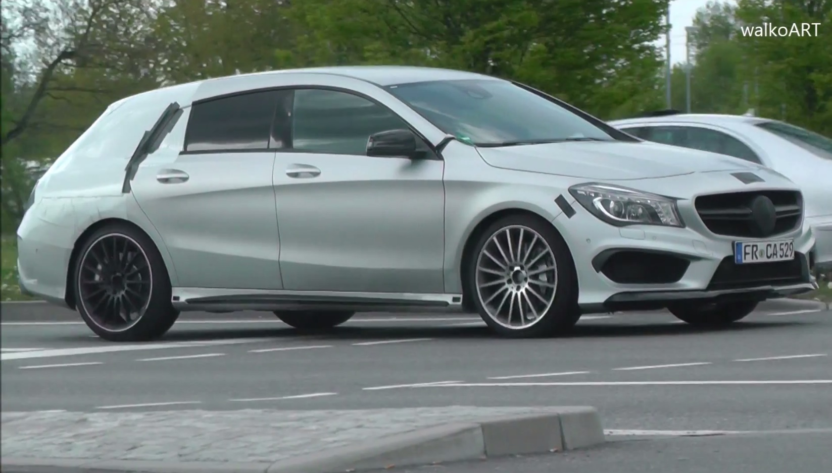 2015 cla 45 amg shooting brake x117 caught near stuttgart autoevolution. Black Bedroom Furniture Sets. Home Design Ideas