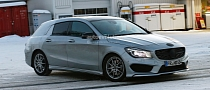 2015 CLA Shooting Brake X117 Spied From up Close in Lapland [Photo Gallery]