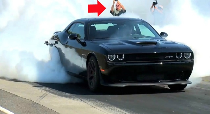 Case Design put your own photo on a phone case : 2015 Dodge Challenger SRT Hellcat Shows the Meaning of a Burnout ...