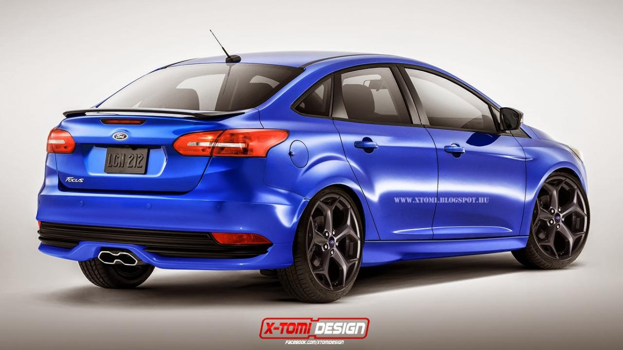 2015 Ford Focus ST Sedan Wagon Rendered  autoevolution
