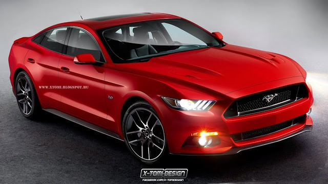 2015 Ford Mustang Becomes Four-Door Sedan